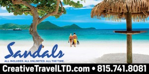 SANDALS BILLBOARD AD FOR MARCH 27 2017